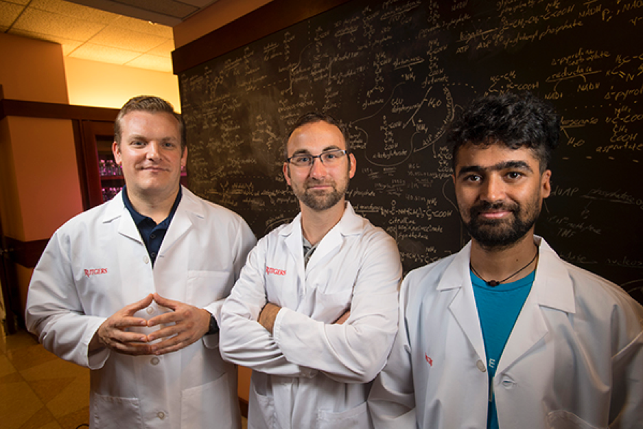 Biophysics doctoral candidate Douglas Pike, along with postdocs Josh Mancini and Saroj Poudel